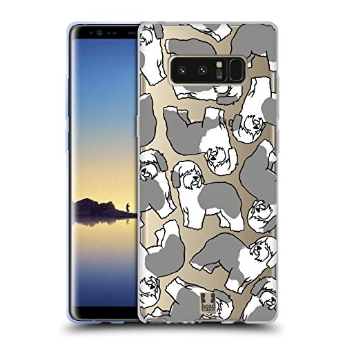 Head Case Designs Old English Sheepdog Dog Breed Patterns 4 Soft Gel Case for Samsung Galaxy Note8 / Note 8