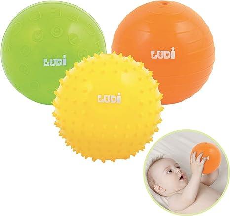 LUDI - Pelota sensorial (3 Unidades): Amazon.es: Bebé