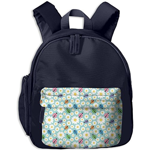 Dianqusha Colorful Daisies And Ladybirds Image Good Luck Charm Discover Your True Self Concept The Boy's Bag Is A School Bag For (Donation Charm)