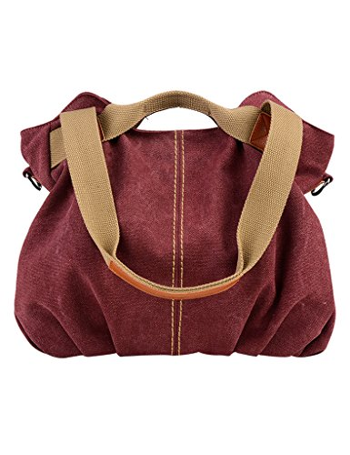 Adjustable Fashion Bags Handbags Strap Coffee Shoulder Youlee Canvas Purple Women's Dark q5w6t