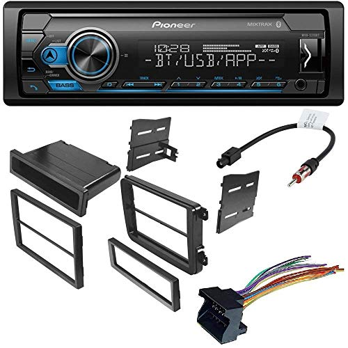 - Pioneer MVH-S310BT Digital Media Receiver with Bluetooth (Does not Play CD's) W/CAR Radio Stereo CD Player Dash Install MOUNTING KIT Harness for Volkswagen 2005-2014