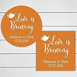 Love Is Brewing wedding sticker (#096-SS)