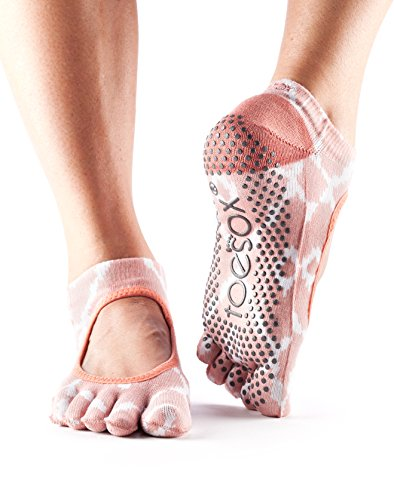 ToeSox Women's Bella Full Toe Grip Socks (Shine) Small - Spring Collection 2016