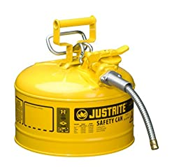 Justrite AccuFlow 7225220 Type II Galvanized Steel Safety Can with 5/8\
