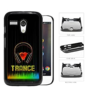 Love Trance Music With Colorful Equalizer Hard Plastic Snap On Cell Phone Case Motorola Moto G