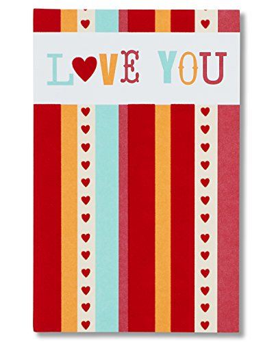 American Greetings Love You Valentine's Day Card with Flocking