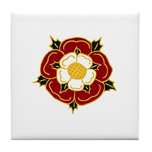 CafePress - Tudor Rose - Tile Coaster, Drink Coaster, Small Trivet ()