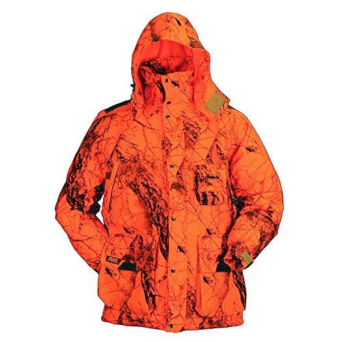 (Gamehide Whisper Parka Naked North Orange Camo, Size-L)