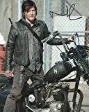 Walking Dead Signed Autographed Norman Reedus as Daryl Dixon with Motorcycle 8x10 Photo
