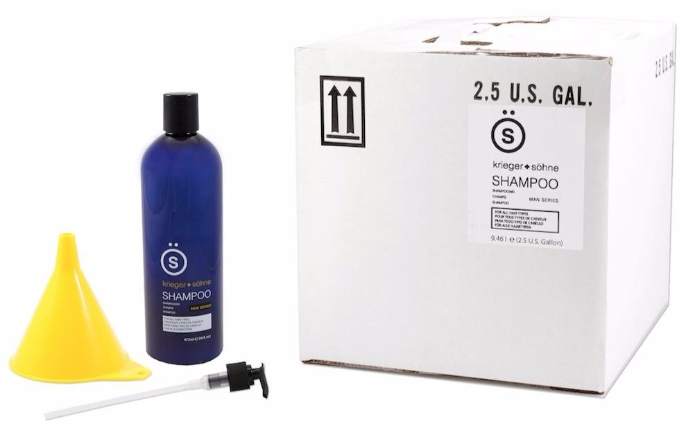 K + S Salon Quality Men's Shampoo Complete Bulk Kit – Tea Tree Oil Infused To Eliminate Dandruff, Dry Scalp, and Prevent Hair Loss - Professional Stylist Recommended - 320 oz (Single 2.5 Gallon Box)