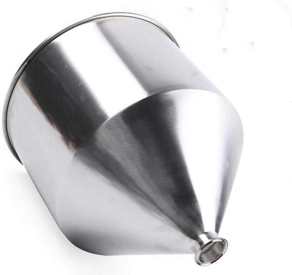 OUKANING Tolva de Acero Inoxidable de 2.52 Pulgadas Embudo de Acero Inoxidable Embudo de Acero Inoxidable Industrial