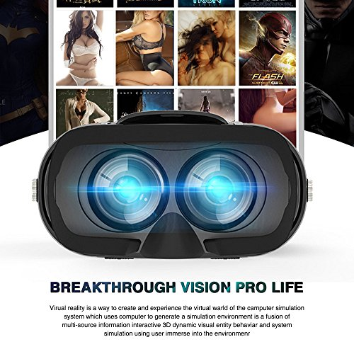 3D VR Headset, Yove 3D Virtual Reality Headset with Adjustable Lens and Strap for iPhone 7 6 6s 5 5s 6splus Samsung S3 Edge Note 4 and 3.5-5.5 inch Smartphone for 3D adult Movies and 3D Games by yove (Image #5)