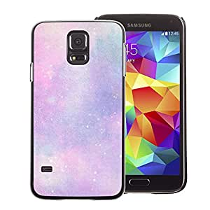 A-type Arte & diseño plástico duro Fundas Cover Cubre Hard Case Cover para Samsung Galaxy S5 (Stars Universe Clouds Purple Pink Cosmos)