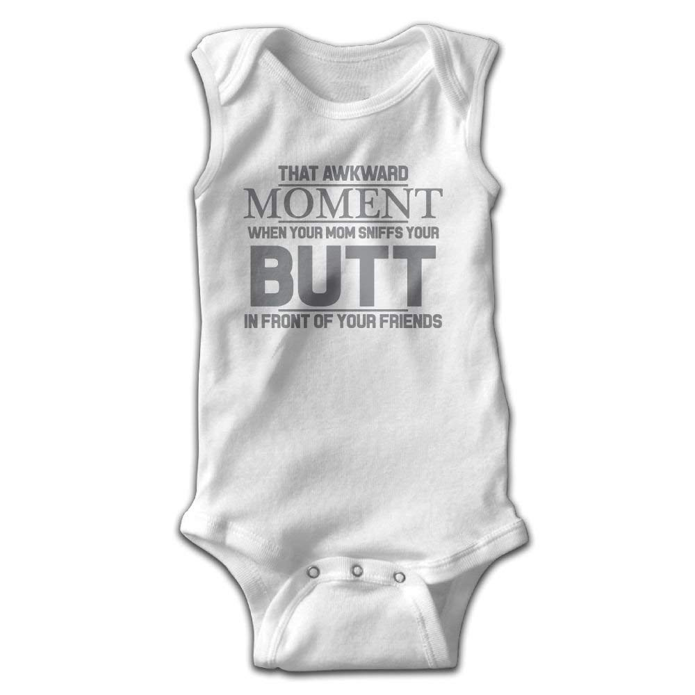 Awkward Moment Mom Sniffs Butt Newborn Infant Baby Summer Sleeveless Bodysuit Romper Jumpsuits Playsuit