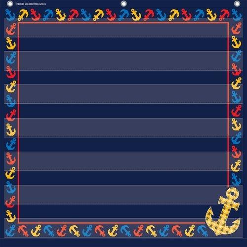 Teacher Created Resources Anchors 7 Pocket Chart (28'' x 28'')