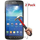 [2 Pack] Galaxy S4 Active Screen Protector, NEWELL™ 0.26mm Premium Tempered Glass Screen Protector for Samsung Galaxy S4 Active Bubble-free Anti-Scratch Anti-Fingerprint Guard Cover