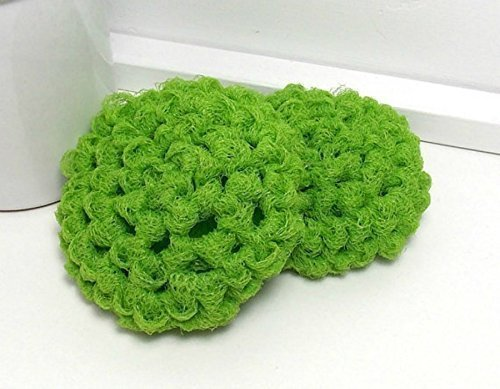 Lime Green Reusable Dish Scrubbies (Set of 2)
