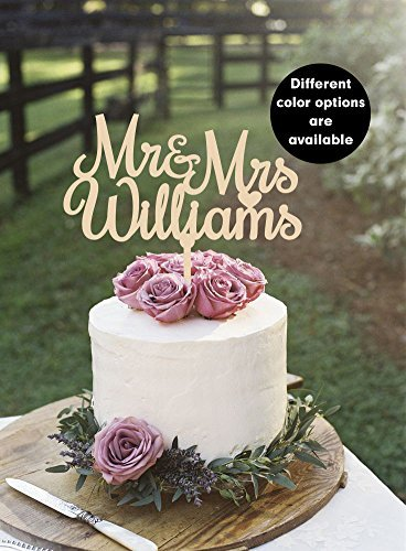 Amazon Com Custom Wedding Cake Topper Last Name Cake Topper