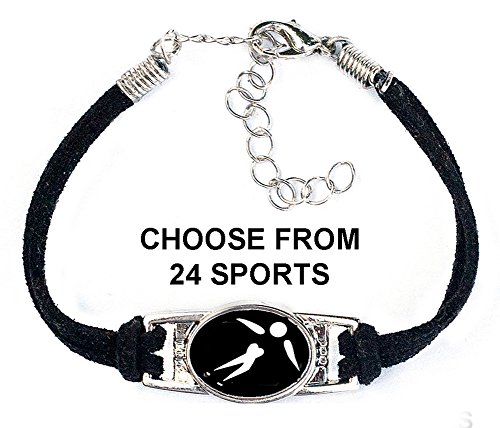 (Choose from 24 Sports) Includes Golf, Figure Skating, Fitness, Swim, Tennis, Skiing, Rugby Bracelet - Golf Sport Figure