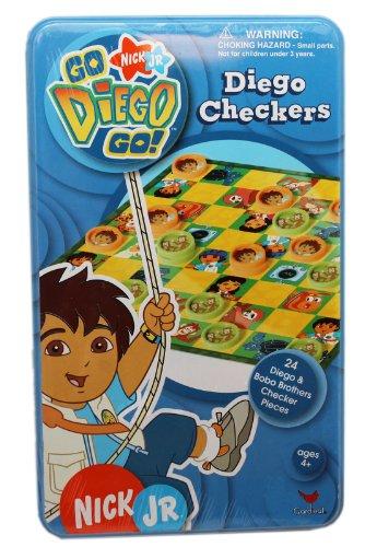 Go Diego Go Checkers Set with Tin Case