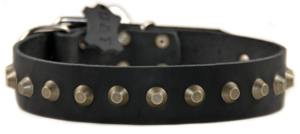 Dean and Tyler  SIMPLY STUNNING  Dog Collar Nickel Hardware Black Size 66cm x 4cm Width. Fits neck size 24 Inches to 28 Inches.