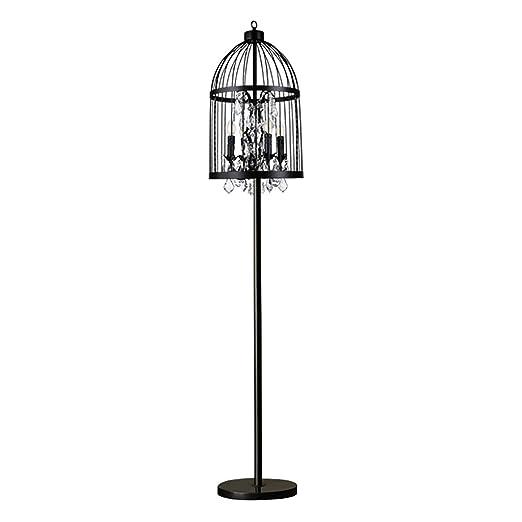 Lámpara de pie de Jaula de pájaro de Hierro Forjado lámpara de ...