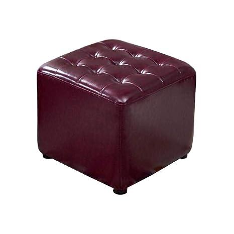 Amazon Com Fashion Square Upholstered Footstool Pu Leather