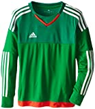 adidas Performance Youth Top Goalkeeping Jersey, Medium, Green/Twilight Green/Legacy