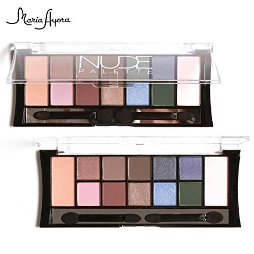 Eyeshadow Palette, Hunzed 12 Colors Cosmetic Powder Smoky Eyeshadow Beauty Cosmetic Makeup Set Matt Available (A)