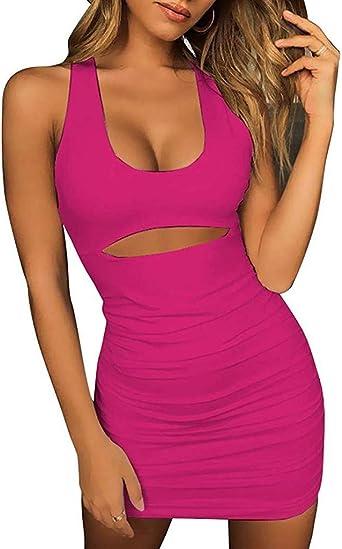 Shenye damska sukienka bez rękawÓw, plisowana, bez ramiączek: Odzież