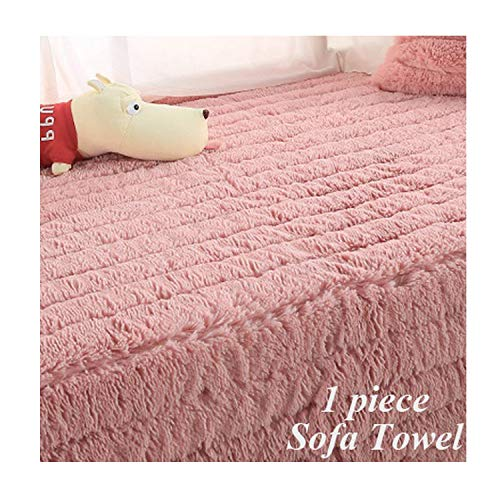 Grey Plush Sofa Cover Towel Striped Fluff Soft Slipcover Resistant Seat Couch Cover for Living Room Window Mats L-Shaped Sofa,Pink Sofa Towel,70X180Cm 1Pc (Zebra Bar Striped Stools)