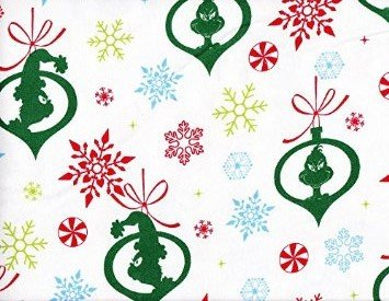 - 1 Yard - Dr. Suess Grinch Flannel Fabric -By Robert Kaufman (Great for Quilting, Sewing, Craft Projects, Blankets, Throw Pillows & More) 1 Yard x 44