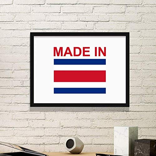 (DIYthinker Made in Costa Rica Country Love Art Painting Picture Photo Wooden Rectangle Frame Home Wall Decor)