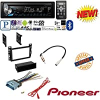 Car Radio Stereo CD Player Dash Install Mounting Trim Bezel Panel Kit + Harness W/ Pioneer DEH-X3900BT Vehicle CD Digital Music Player Receivers, Black