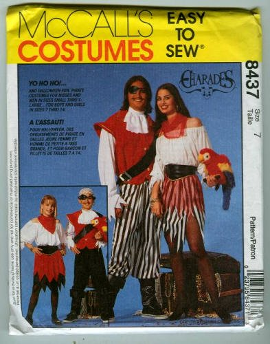 Costume Pattern: Pirate and