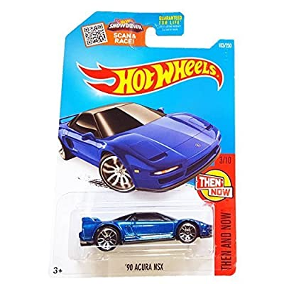 Hot Wheels 2016 Then and Now '90 Acura NSX 103/250, Blue: Toys & Games