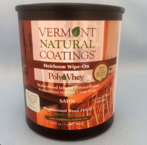 Vermont Natural Coatings 101151 Polywhey Heirloom Wipe-on, Satin (Wood Stain Voc Low)