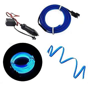 5m Blue AUTOMAN 16.4ft Gap Filler Decorative Flexible Moulding Trim Strip Line Universal Gap Garnish Accessory with Installing Tool Car Edging Trim Interior Strips