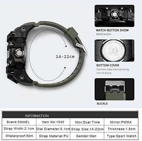 LiuQ Orologi Uomo Guarda 50m Sport Watch Orologio al Quarzo Impermeabile LED Orologio da Polso Maschile Sport Watch Men Durevole (Color : Camo Red) Camo Blue