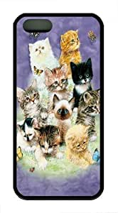 10 Kittens Hard shell For HTC One M7 Case Cover Black