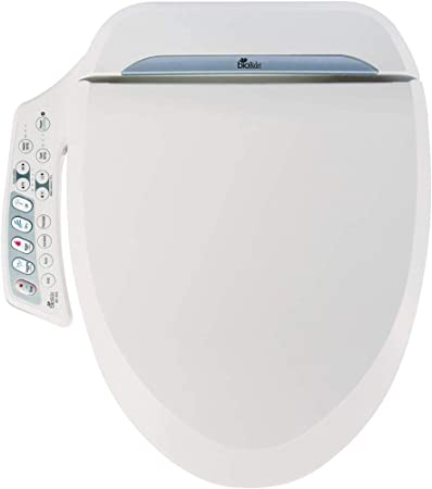 Bio Bidet Ultimate Bb 600 Advanced Bidet Toilet Seat Round White Easy Diy Installation Luxury Features From Side Panel Adjustable Heated Seat And Water Dual Nozzle Has Posterior And Feminine Wash Biobidet