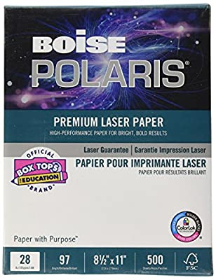 Boise BPL-0211 Boise HD:P Presentation Laser Paper, 28-lb., 8-1/2 x 11, 500 Sheets per Ream