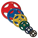 ORCT255 Colored Rubber Grip Olympic Plates Set 255 lbs.
