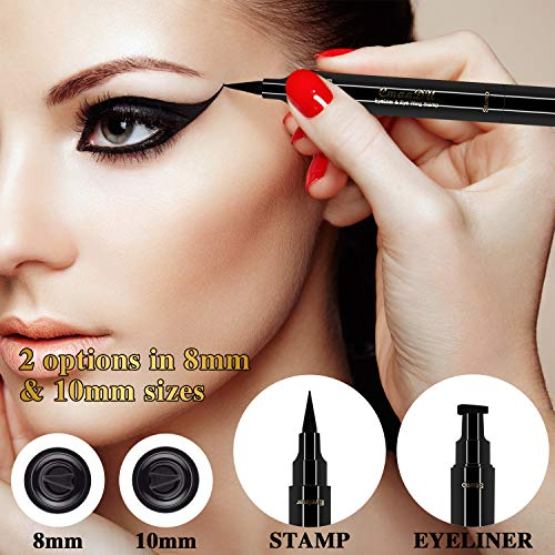 2 PACK Winged Eyeliner Stamp Pencil Dual Ended Liquid Vamp Style Make Up Pen No Dipping Required