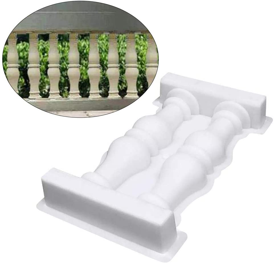 Jardin R/éutilisable en ext/érieur Blanc cl/ôture Zacha Man pour Balcon Moule d/écoratif pour Balustrade