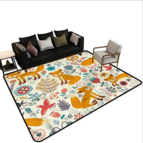 Fox,Front Mat Home Decorative Carpet 36