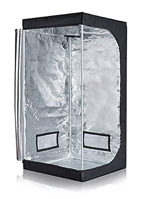 """TopoLite 24""""x24""""x48"""" 48""""x24""""x60"""" 48""""x48""""x78"""" 600D Grow Tent Room Reflective Mylar Indoor Garden Growing Room Hydroponic System (32""""x32""""x63"""" D-Door)"""