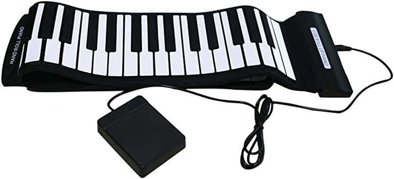 atpart teclado Piano Portátil A MANO de rodillo Piano 88 ...