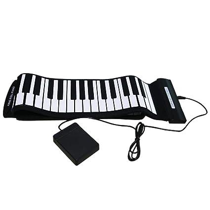 ATpart Teclado de piano portátil Rollo de mano Piano 88 Engrosamiento de la llave Versión profesional