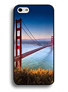 Hard Plastic Case for IPhone 6 Plus (5.5) - Classy Golden Gate Bridge Print